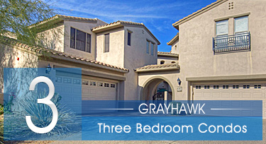 Three Bedroom Grayhawk Scottsdale AZ Condos for Sale